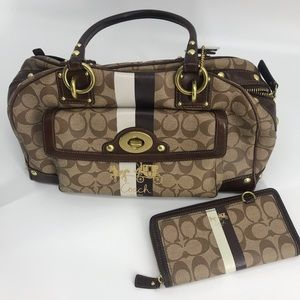 Coach Signature Bag with Matching Wallet